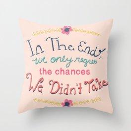 Chances Throw Pillow