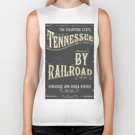 Tennessee railroad poster Biker Tank