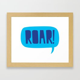 Dinosaur Roar Framed Art Print