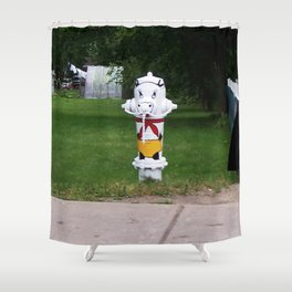 Funny Fire Hydrant Shower Curtain