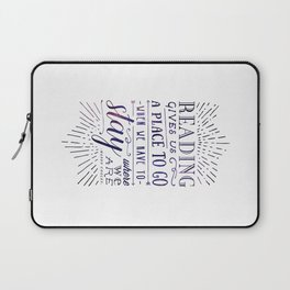 Reading gives us a place to go - inversed Laptop Sleeve