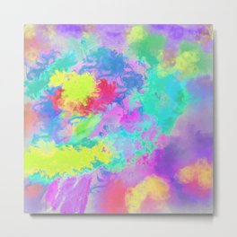 Colorful Watercolor Painting Abstract Art Metal Print