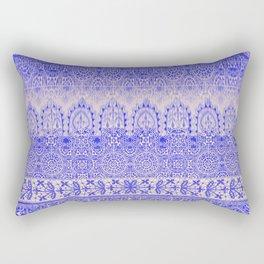 crochet lace mixed in blue Rectangular Pillow