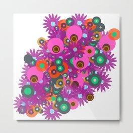 flower circles corsage Metal Print