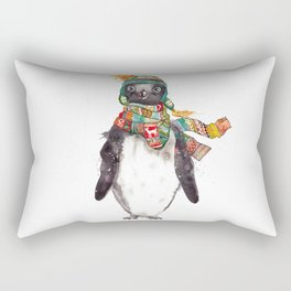 Penguin in a scarf (male) Rectangular Pillow