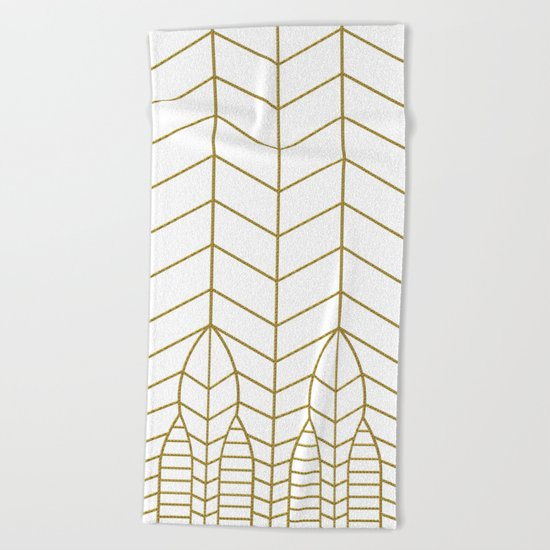 ART DECO IN WHITE Beach Towel