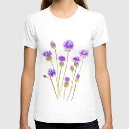 purple thorny wildflower T-shirt