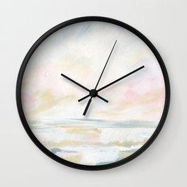 Golden Hour - Pastel Seascape Wall Clock