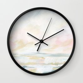 Golden Hour - Pastel Seascape Wall Clock