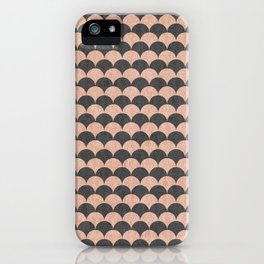 Scale - Pink And Grey iPhone Case