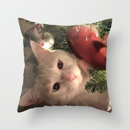 Meowy Christmas 5 Throw Pillow
