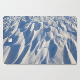 Snowdrifts, the field in winter Cutting Board