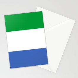 Sierra Leone country flag Stationery Cards