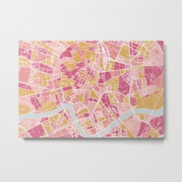 Cracow map Metal Print