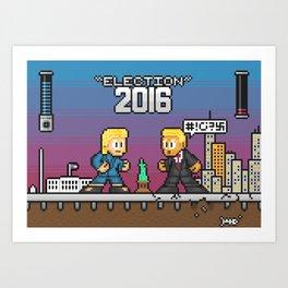 Pixelections: 2016 - Trump v. Clinton Art Print