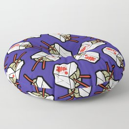 Take-Out Noodles Box Pattern Floor Pillow