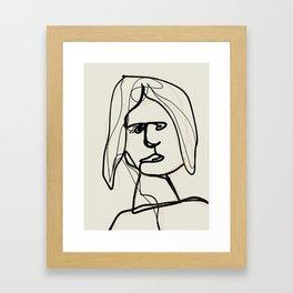 naughty girl Framed Art Print