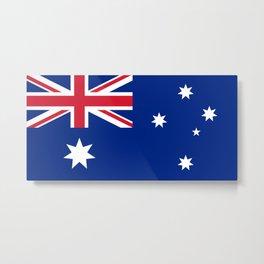 Australian flag, HQ image Metal Print