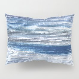 Metallic blue abstract watercolor Pillow Sham
