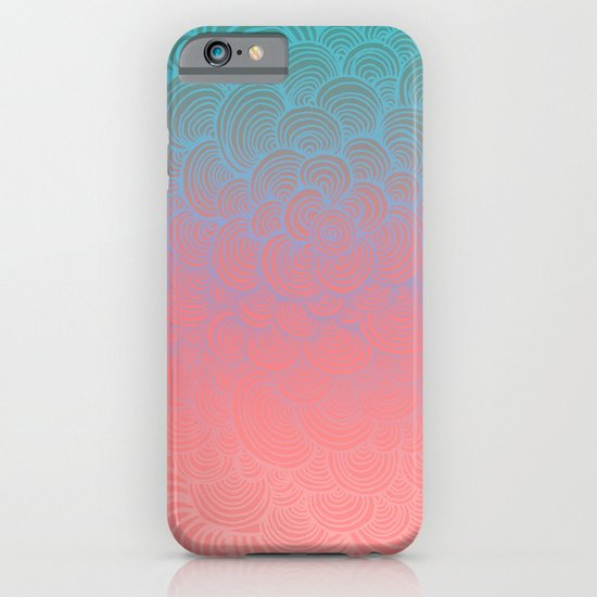 Ombre Clam Shells - Mint, Peach, Purple and Pink iPhone & iPod Case