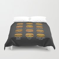 pun Duvet Covers featuring Pun Buns by geeksweetie
