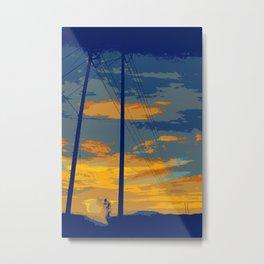 Sunrise Powerlines Metal Print