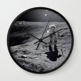 Apollo 16 - Plum Crater Wall Clock