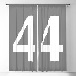 4 (WHITE & GRAY NUMBERS) Blackout Curtain