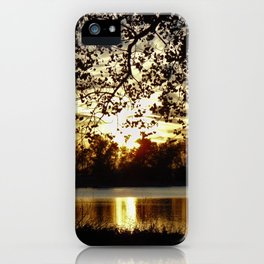 Kansas Golden Sunset Reflection iPhone Case
