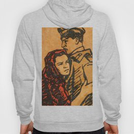 """Old Soviet Film Poster """"Quietly Flows the Don"""" Hoody"""