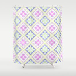 Floral Patches Shower Curtain