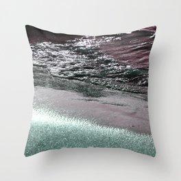 Dark Saturated Sea Coast Throw Pillow