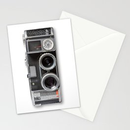 8mm Two Lens Movie Camera Stationery Cards
