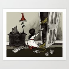 Monster in the Closet Art Print