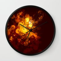 gold dots Wall Clocks featuring Dots by Eponine