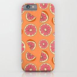 Grapefruit Print iPhone Case