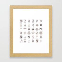 Craft Beer Icons Framed Art Print