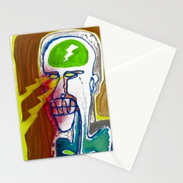 The man with the eyes of death rays was seen in the mirror first and last time Stationery Cards