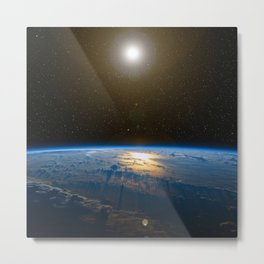 Planet Earth Metal Print