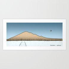 Pyhajarvi - Finnish Lapland - DAY Art Print