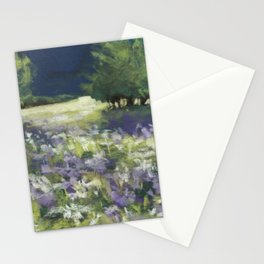 Fields of White and Purple Stationery Cards