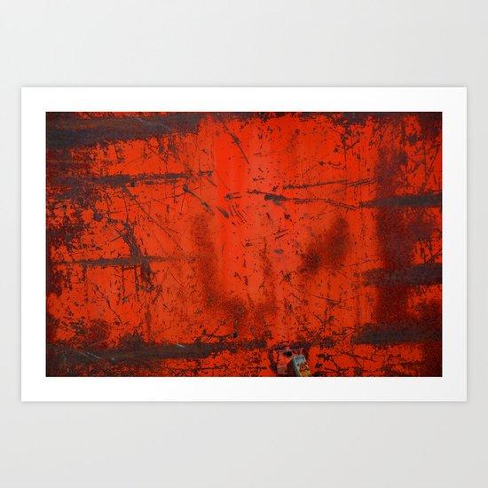 Red Roof Hatch Art Print