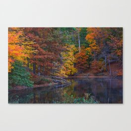 Autumn Foliage at Loch Raven Reservoir Canvas Print