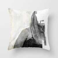 number Throw Pillows featuring Faceless | number 03 by FAMOUS WHEN DEAD