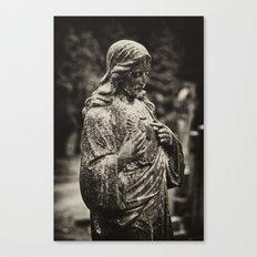 Jesus in the rain Canvas Print