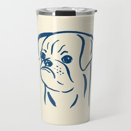 Petit Brabancon (Beige and Blue) Travel Mug