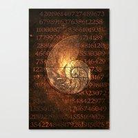 fibonacci Canvas Prints featuring Fibonacci by Bina