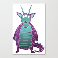 Purple Monster Canvas Print