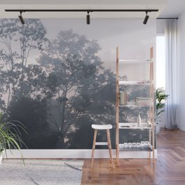 The mysteries of the morning mist Wall Mural