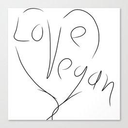 Love Vegan Canvas Print